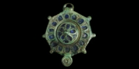 Enamelled Disc Brooch
