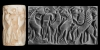 Mesopotamian Cylinder Seal with Contest Scene