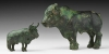 Elamite Bull and Calf Figurine Pair