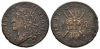 Ireland - James II March 1689 - Large Gun Money Shilling