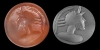 Sassanian Stamp Seal with Male Bust