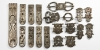 Silver Military Belt Set