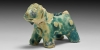 Turquoise Glazed Animal Figurine