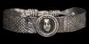 Silver Bracelet with Helmet