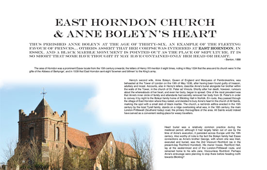 East Horndon Church Legend