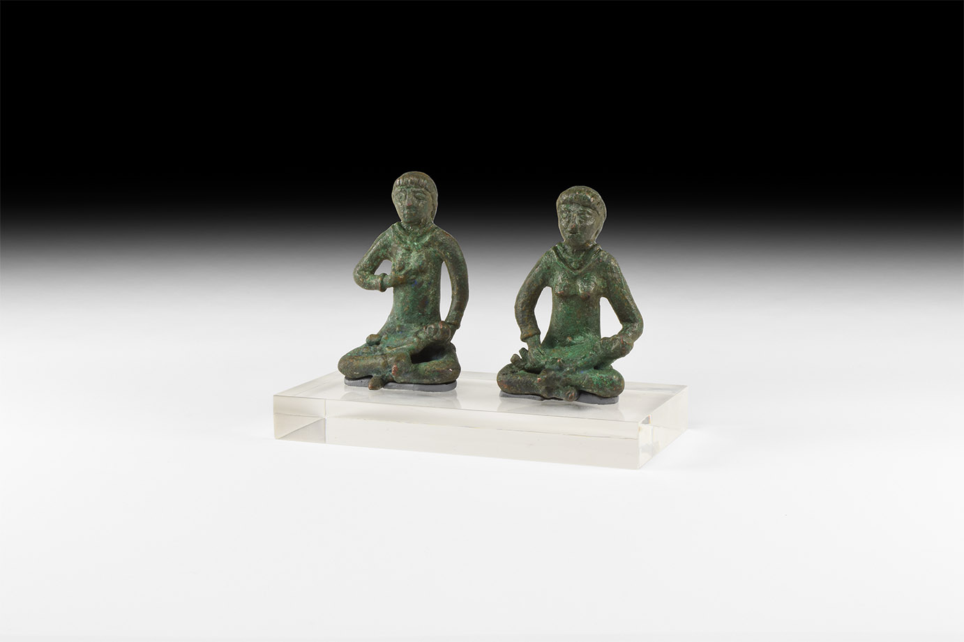 Western Asiatic Elamite Mother and Child Statuette Pair