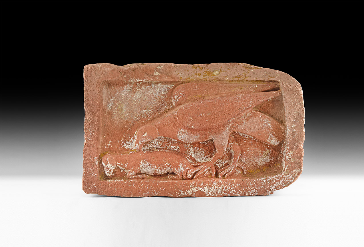 Medieval Eagle Attacking Lamb Carving