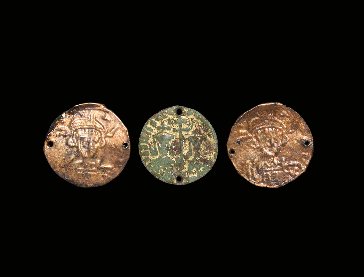 Byzantine Gilt Mounts with Saints