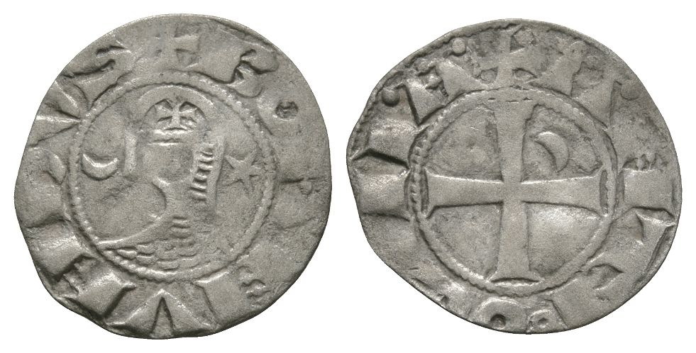 World Coins - Crusader Issues - Antioch - Bohemond III - Denier