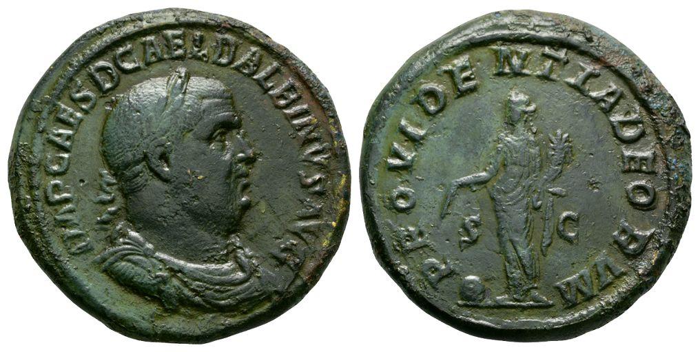 Ancient Roman Imperial Coins - Balbinus - Providentia Sestertius