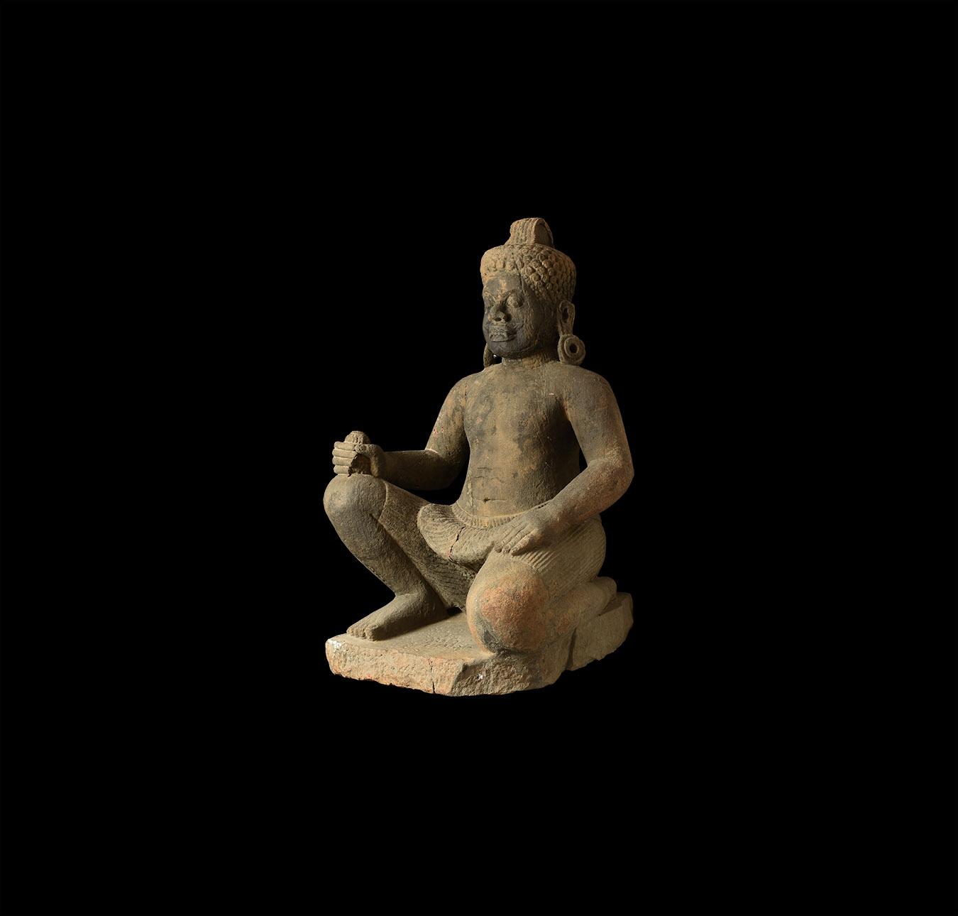 Khmer Yaksha Guardian Statue