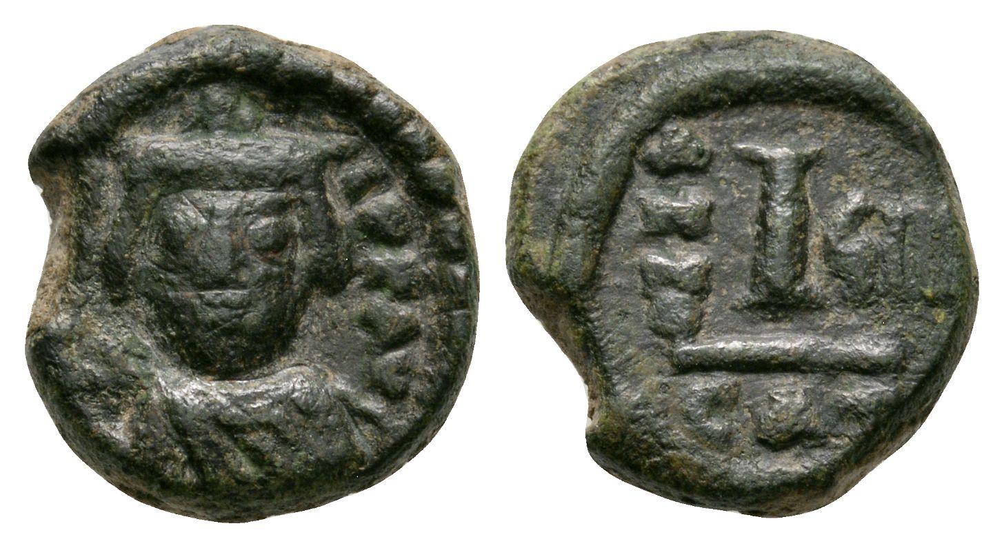 Ancient Byzantine Coins - Heraclius - Portrait Dekanummia