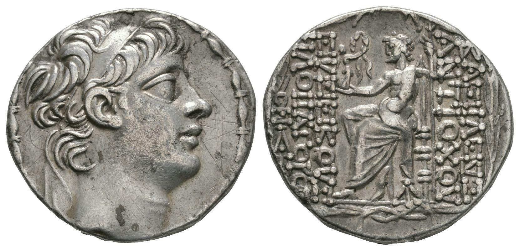 Ancient Greek Coins - Syria - Antiochos X Eusebus Philopater - Zeus Tetradrachm