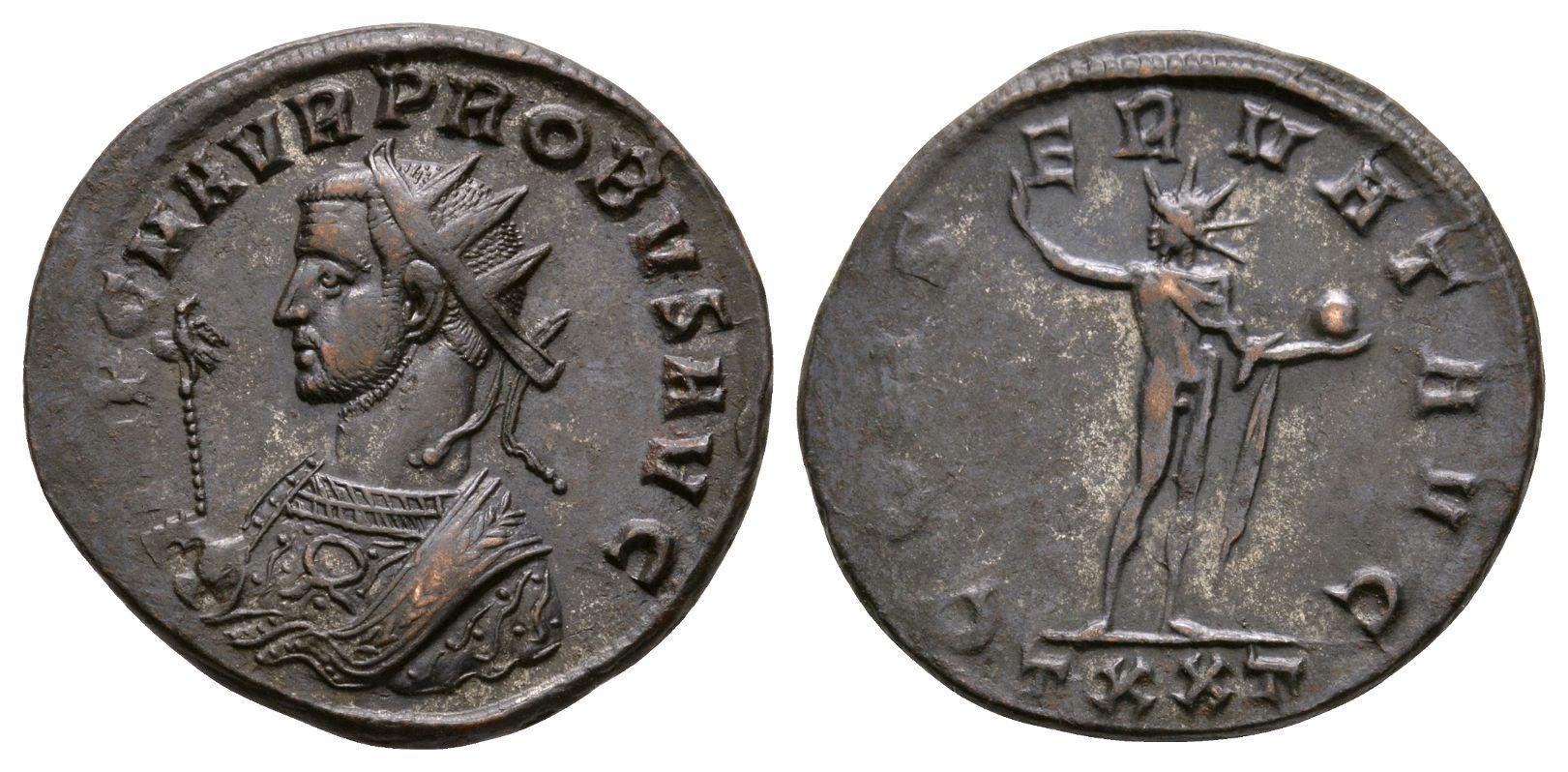 Ancient Roman Imperial Coins - Probus - Sol Antoninianus