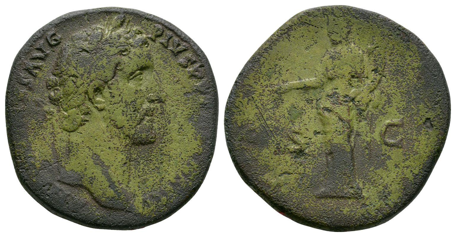 Roman Imperial Coins - Antoninus Pius - Aequitas Sestertius
