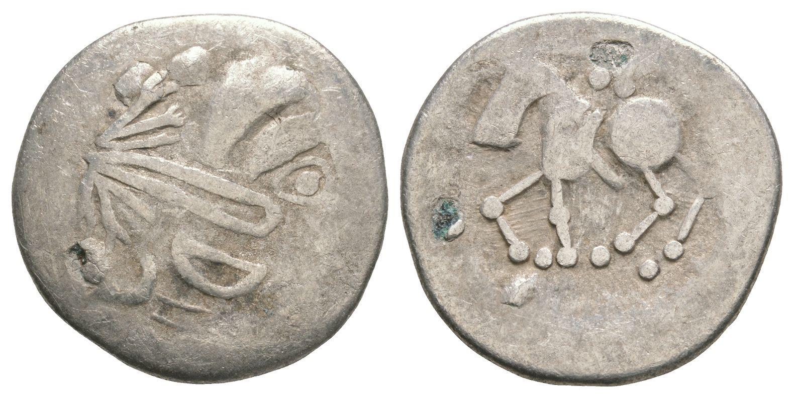 Celtic Iron Age Coins - Danubian Celts - Sattelkopf Tetradrachm