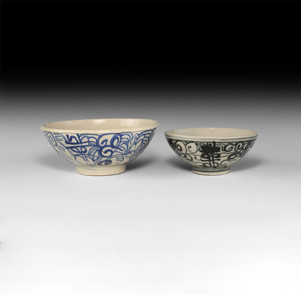 Chinese Ming Glazed Bowl Group