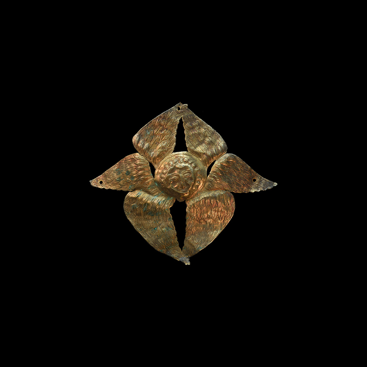 Post Medieval Gilt Winged Appliqué