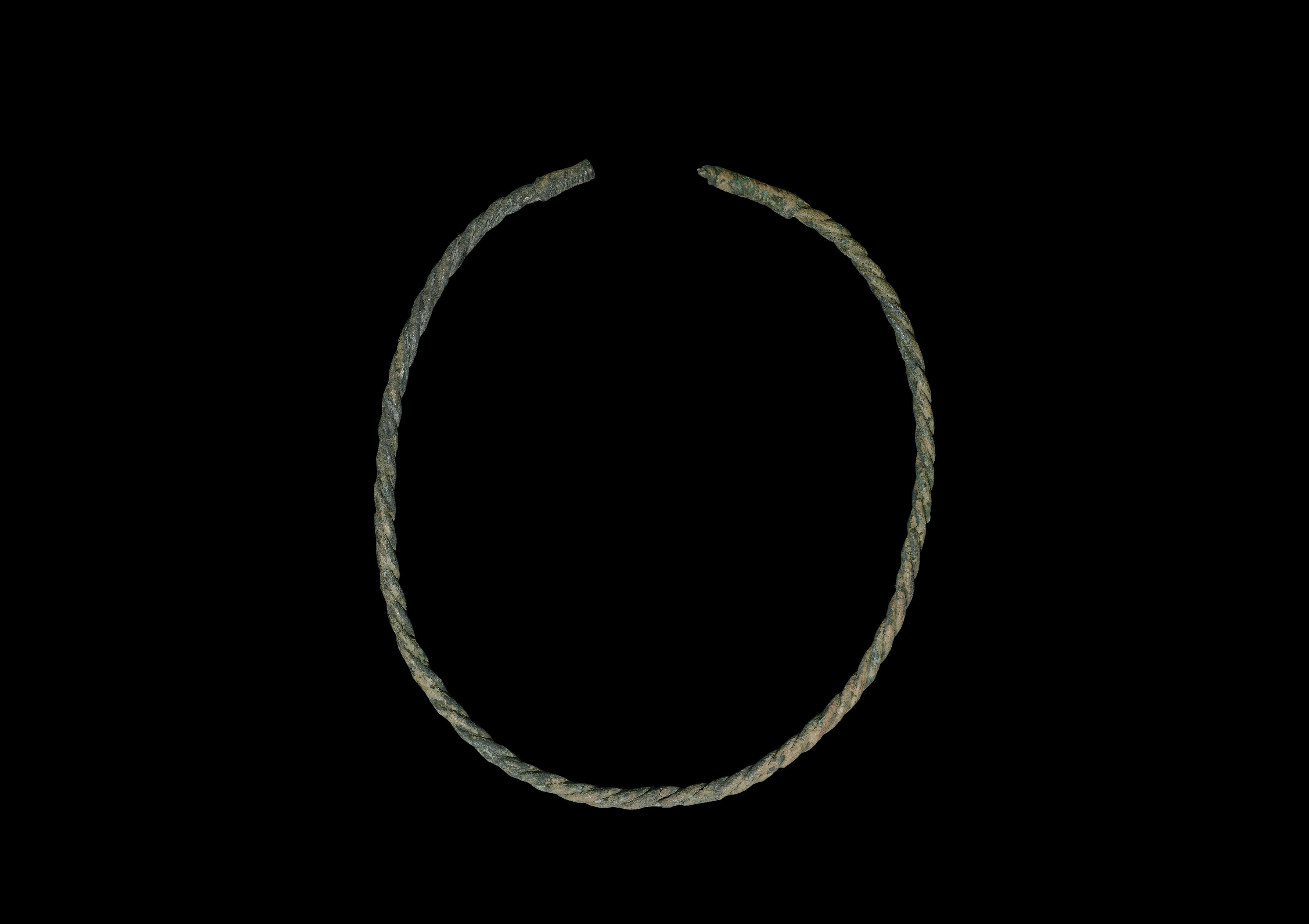 Byzantine Silver Twisted Necklace