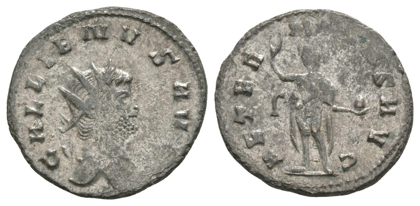 Ancient Roman Imperial Coins - Gallienus - Sol Antoninianus