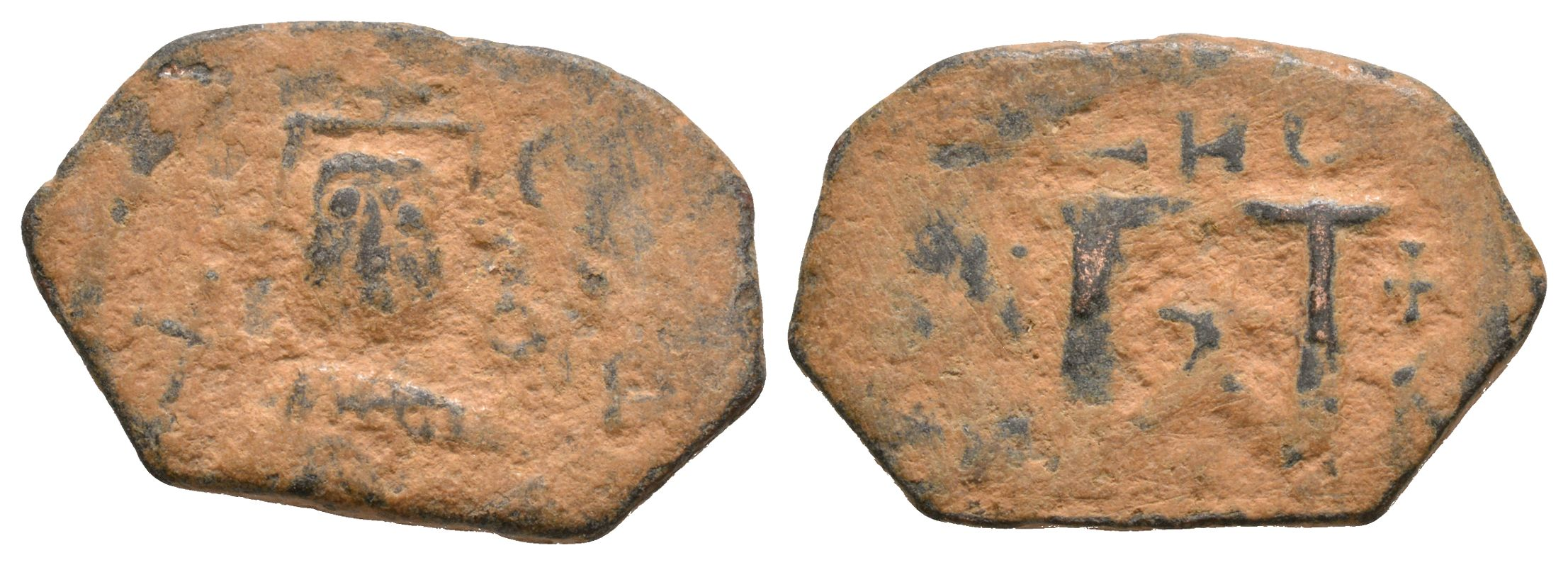 Ancient Byzantine Coins - Arab-Byzantine - Follis