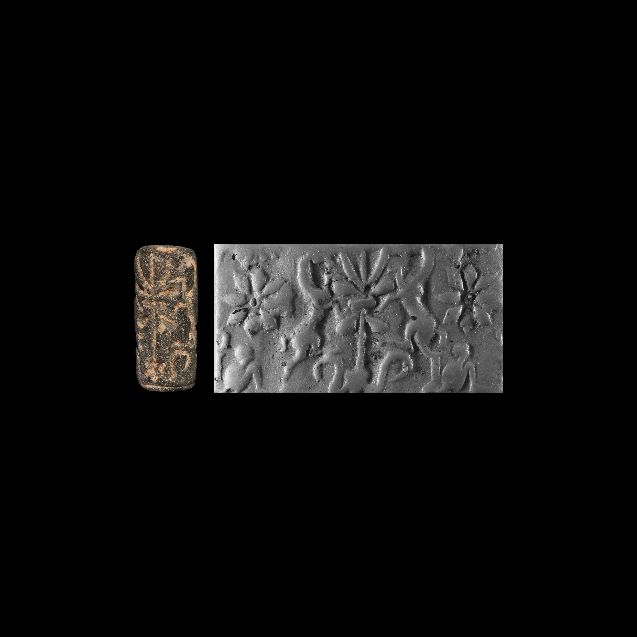 Western Asiatic Cylinder Seal with Gryphons