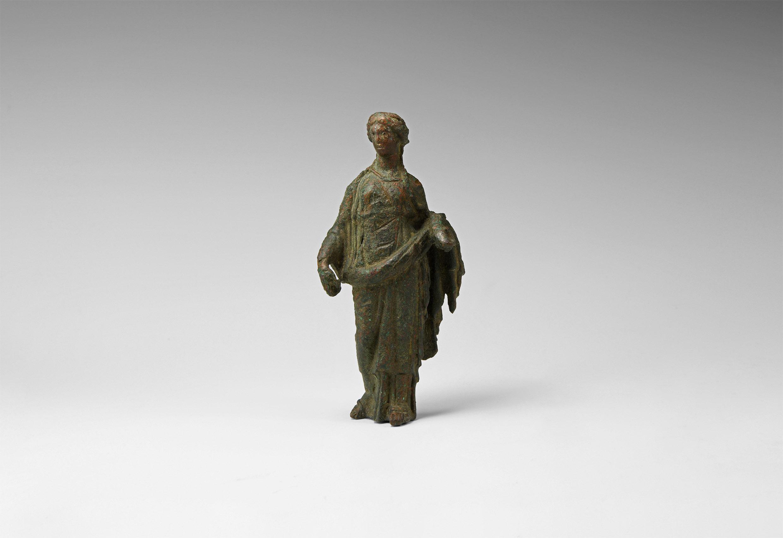 Large Roman Fortuna Statuette