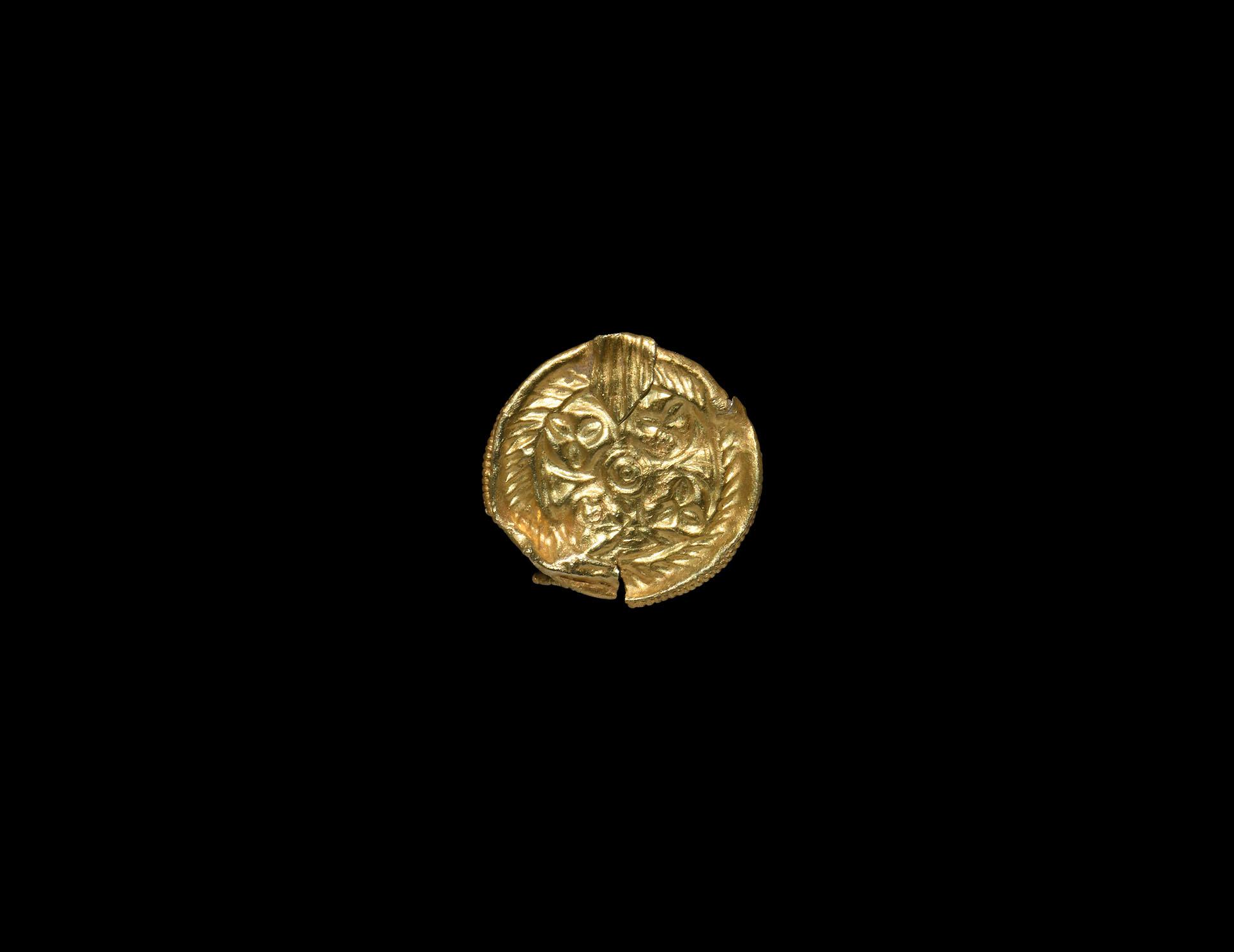 Viking Gold Bracteate Pendant