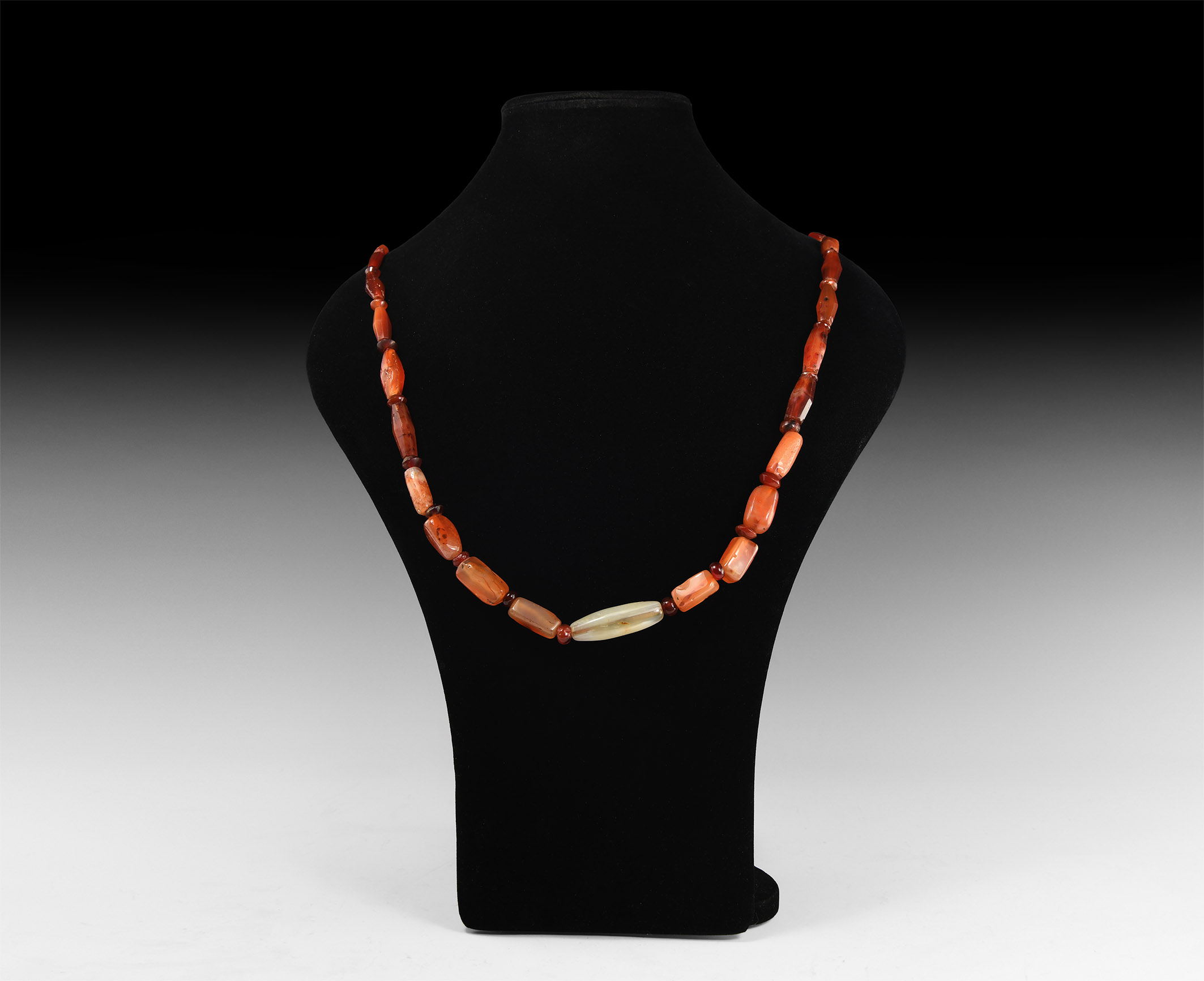 Roman and Other Carnelian Bead Necklace