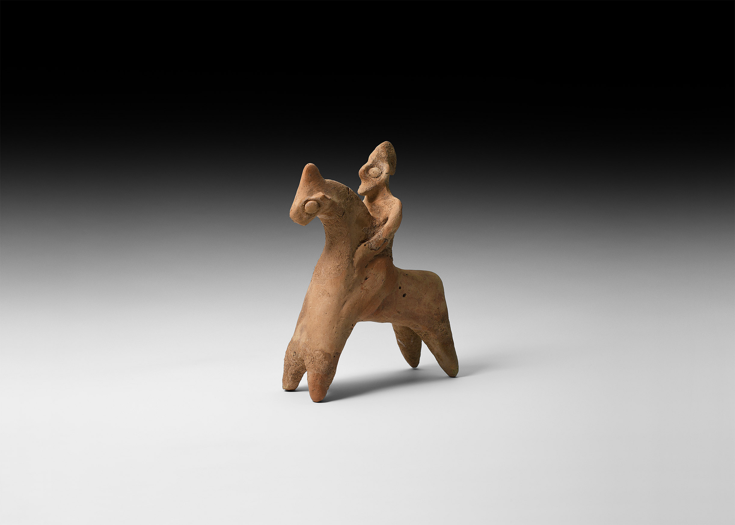 Parthian Horse and Rider Figure