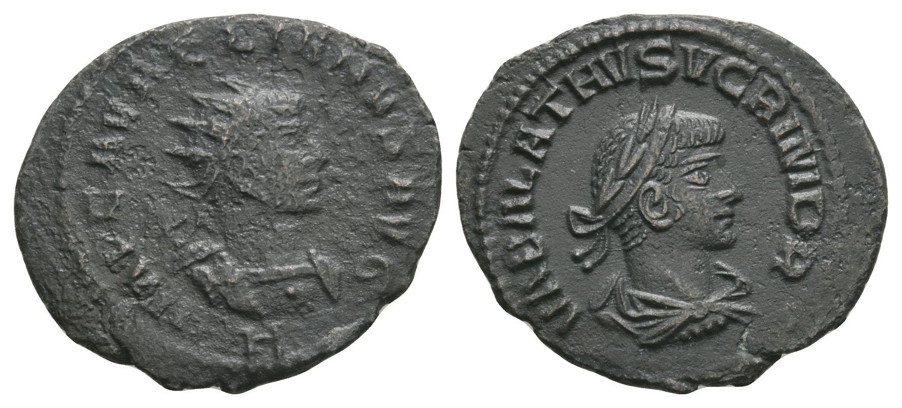 Roman Imperial Coins - Vabalathus and Aurelian - Double Portrait Antoninianus