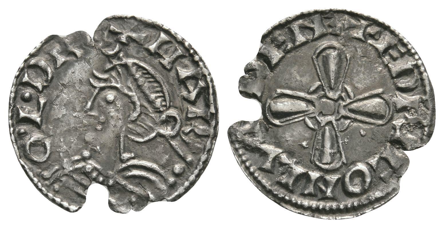 Anglo-Saxon Coins - Harold I - London / Edric - Jewel Cross Penny