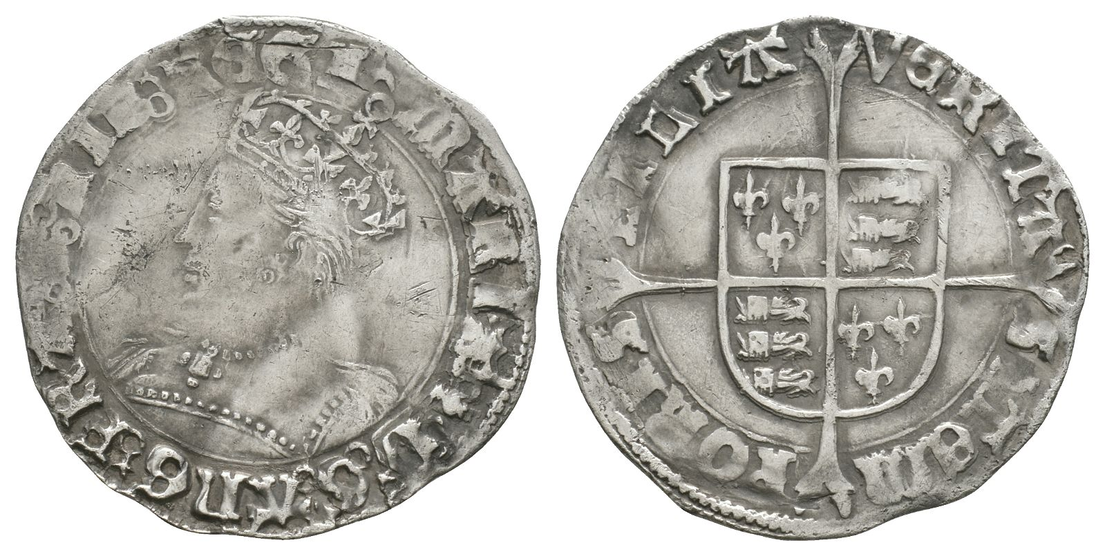 English Tudor Coins - Mary - Groat
