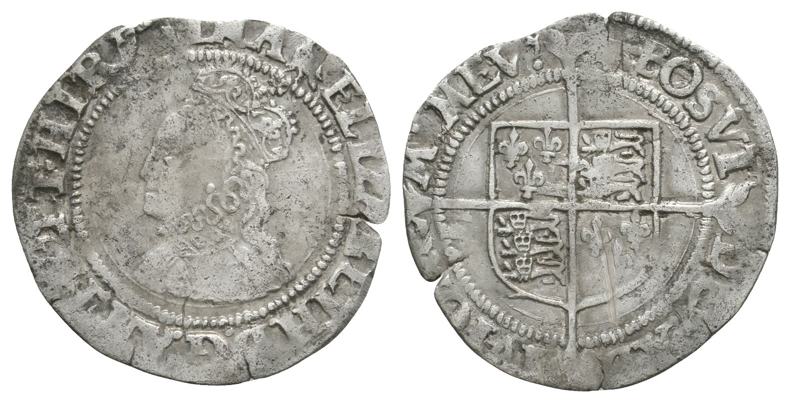 English Tudor Coins - Elizabeth I - Groat