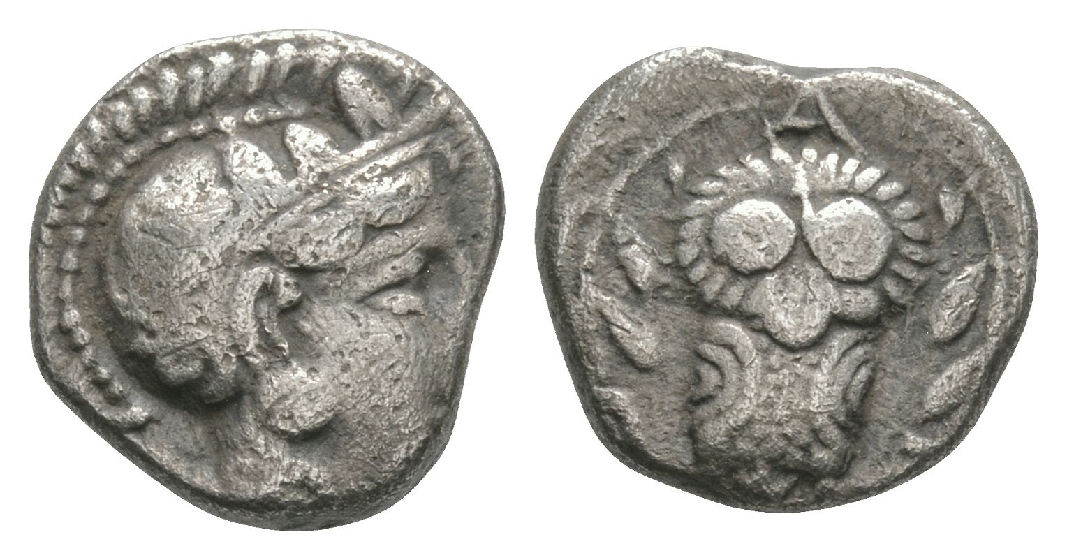 Ancient Greek Coins - Athens - Owl Hemidrachm