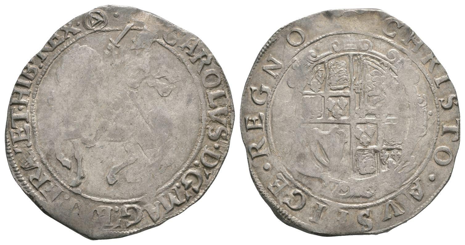 English Stuart Coins - Charles I - Tower - Halfcrown