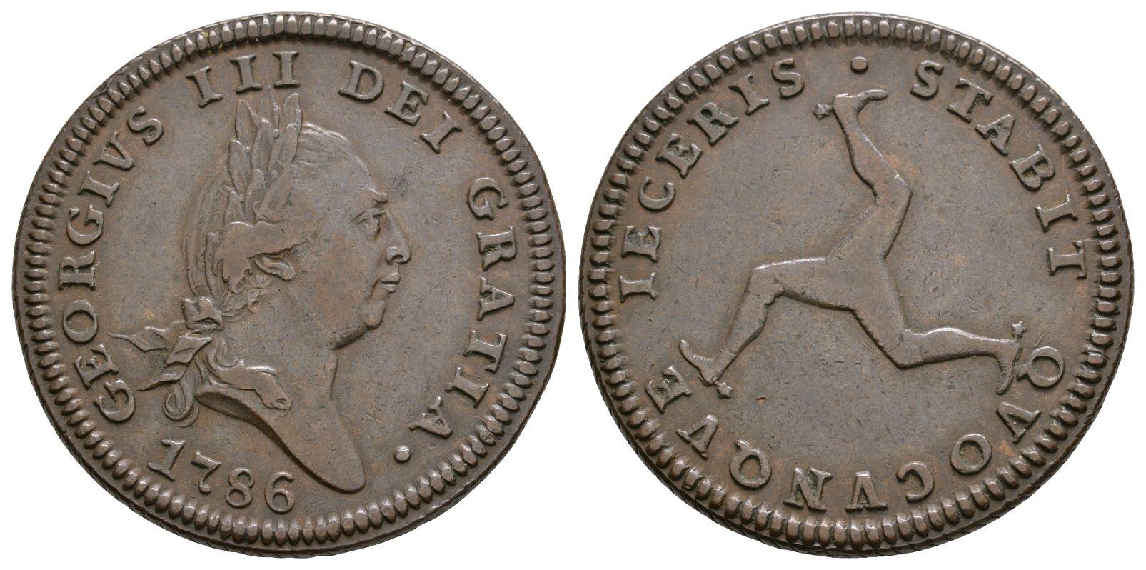 World Coins - Isle of Man - George III - 1786 - Penny