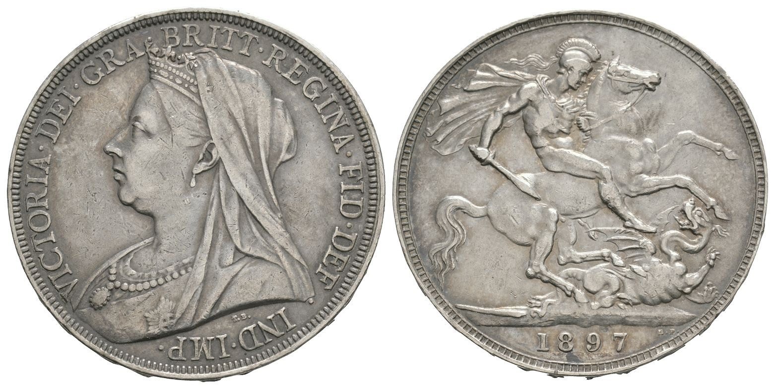 English Milled Coins - Victoria - 1897 LXI - Crown