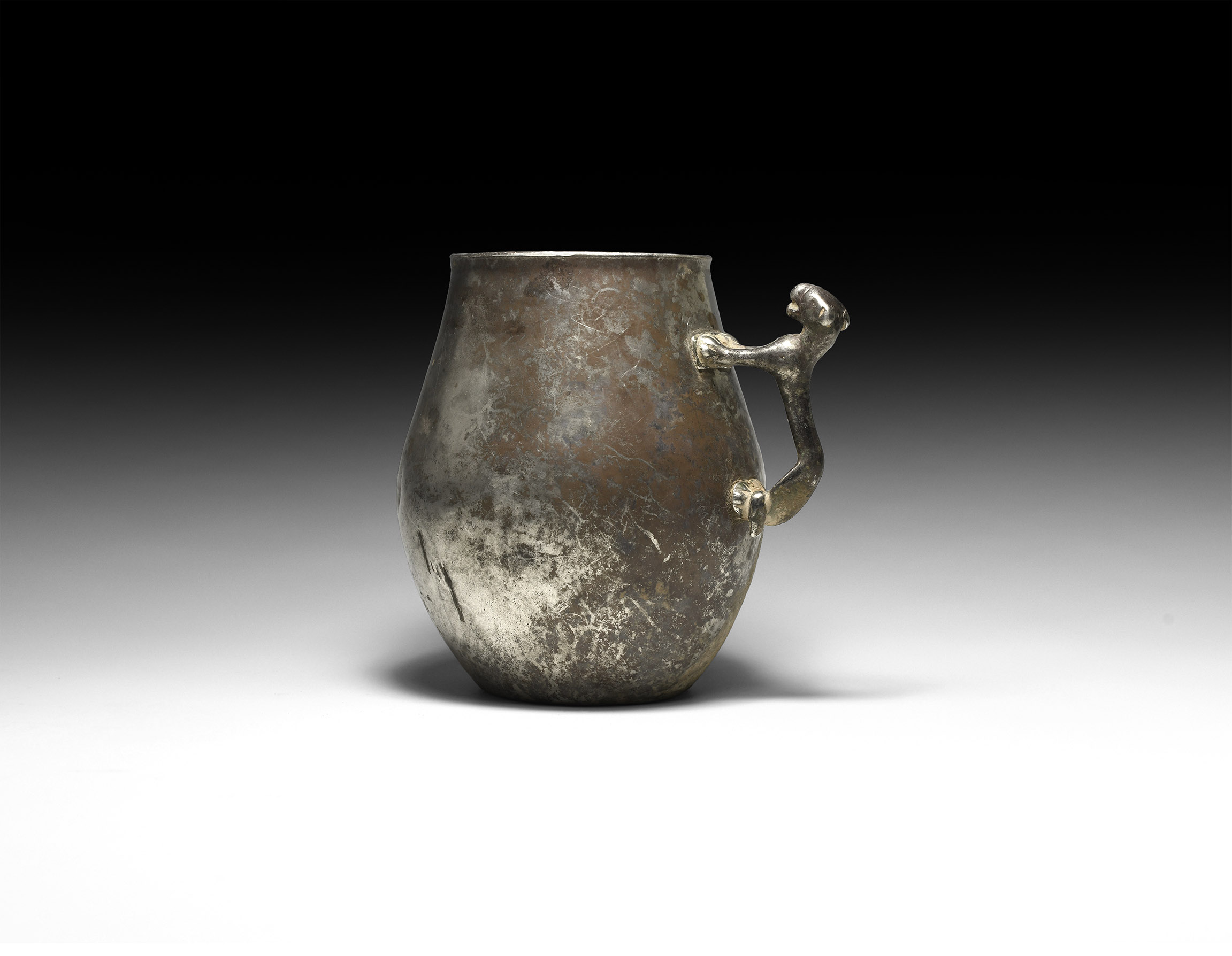 Parthian Silver Panther-Handled Cup