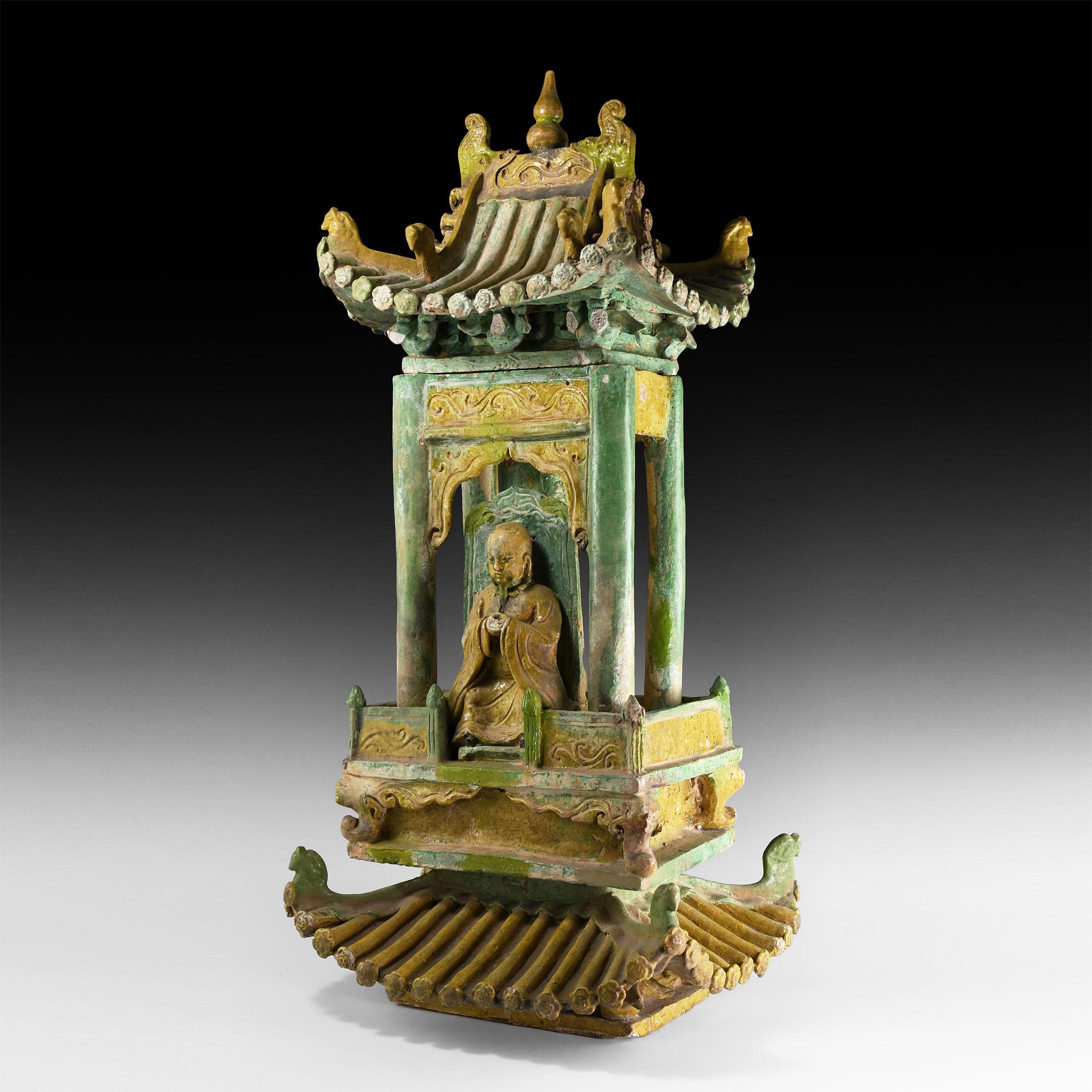 Large Chinese Ming Model Shrine