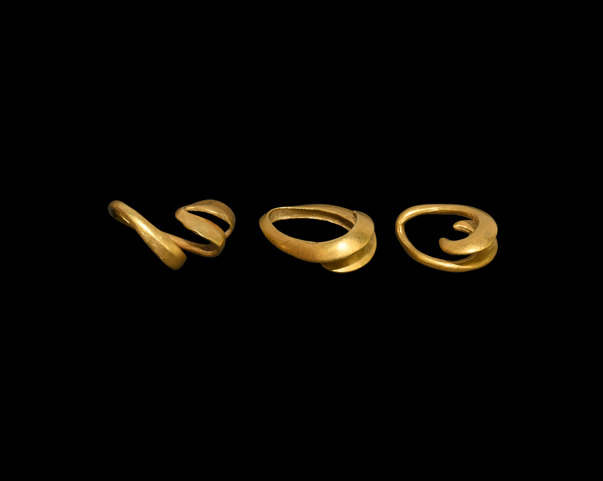 Bronze Age Gold Hair Ring Collection