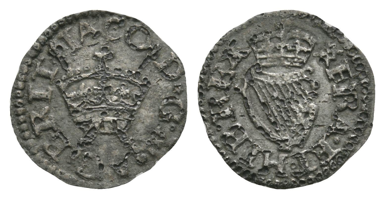 English Stuart Coins - James I - London - Harrington Tinned Farthing