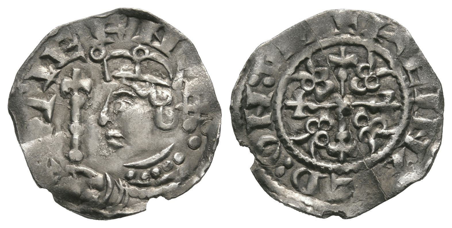 Norman Coins - Stephen - Cambridge / Reinald - Cross and Piles Penny