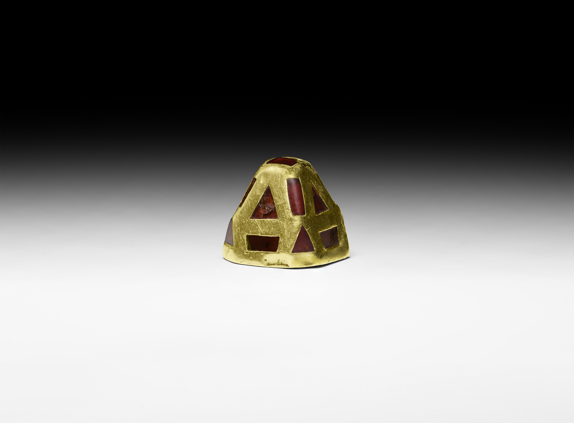 Anglo-Saxon The Thwaite Gold and Garnet Sword Pyramid