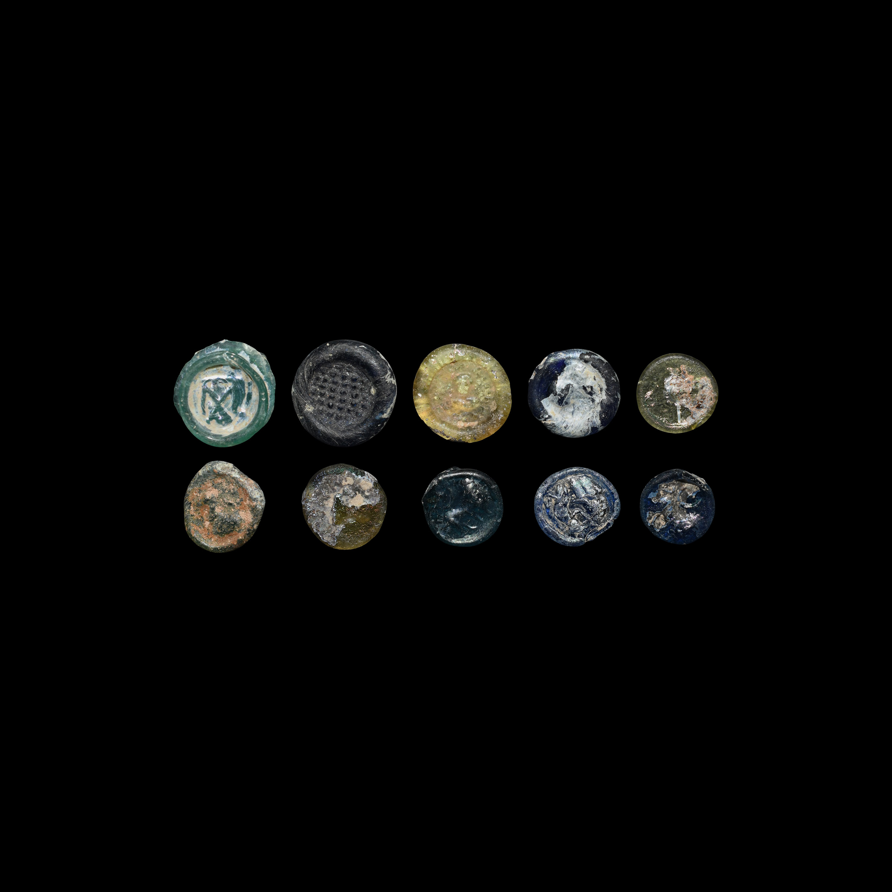 Byzantine Glass Weight and Token Collection