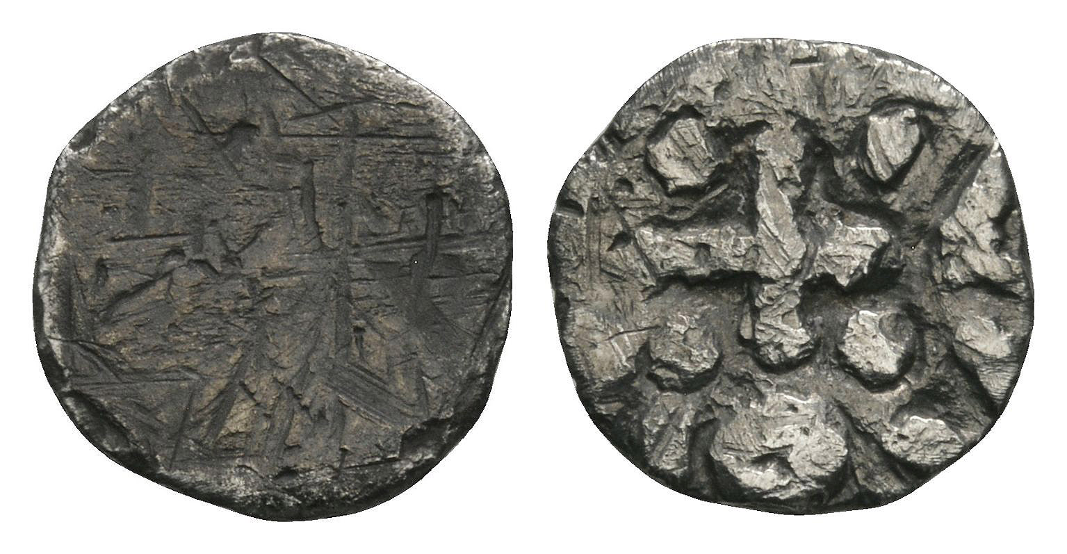 Anglo-Saxon Coins - Continental Issues - Series D Type 2c - Obverse Erased Portrait Sceatta