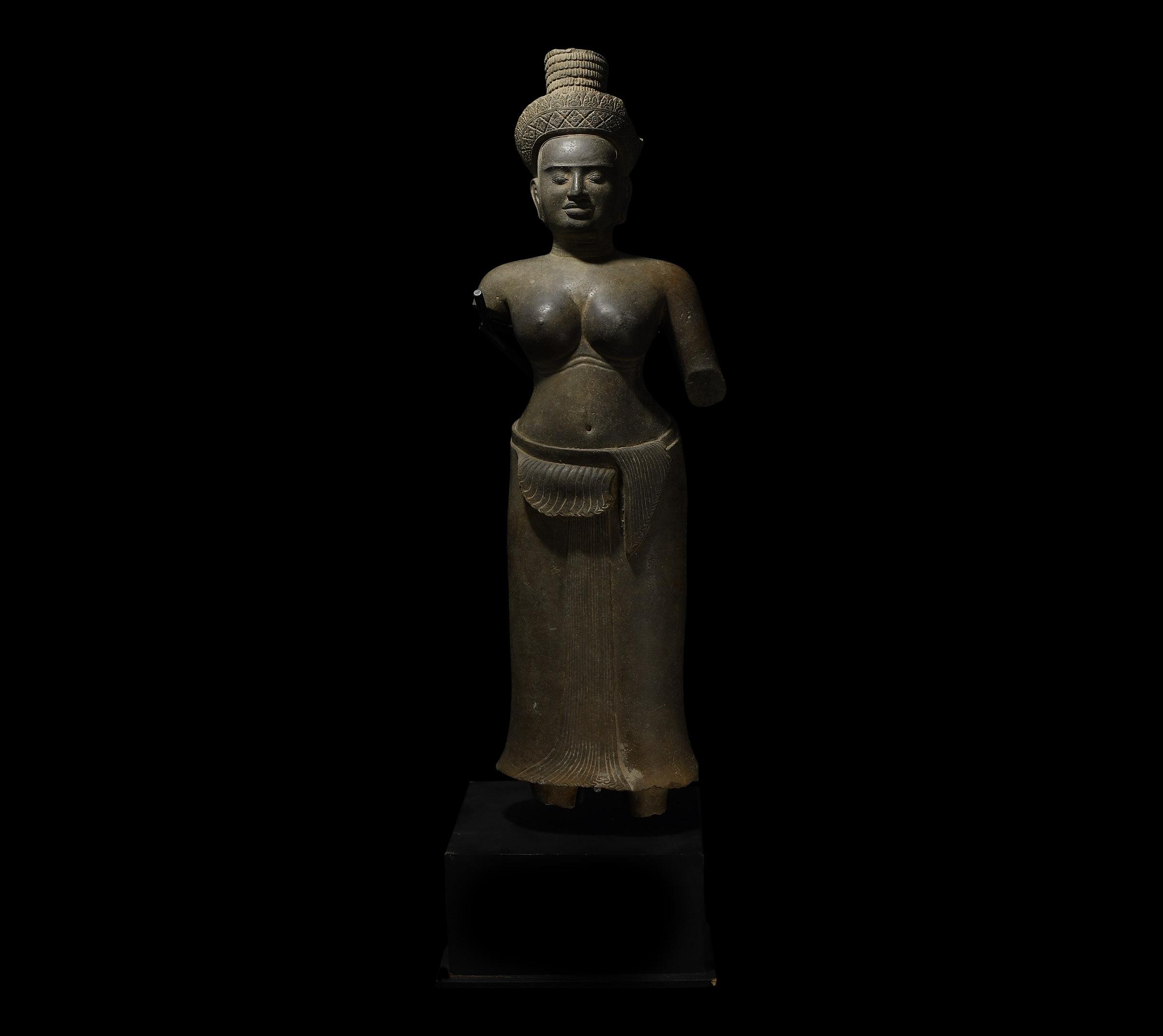 South East Asian Standing Lakshmi Statue