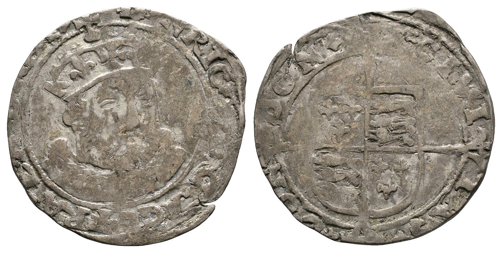 English Tudor Coins - Edward VI (in name of Henry VIII) - Southwark - Facing Bust Groat