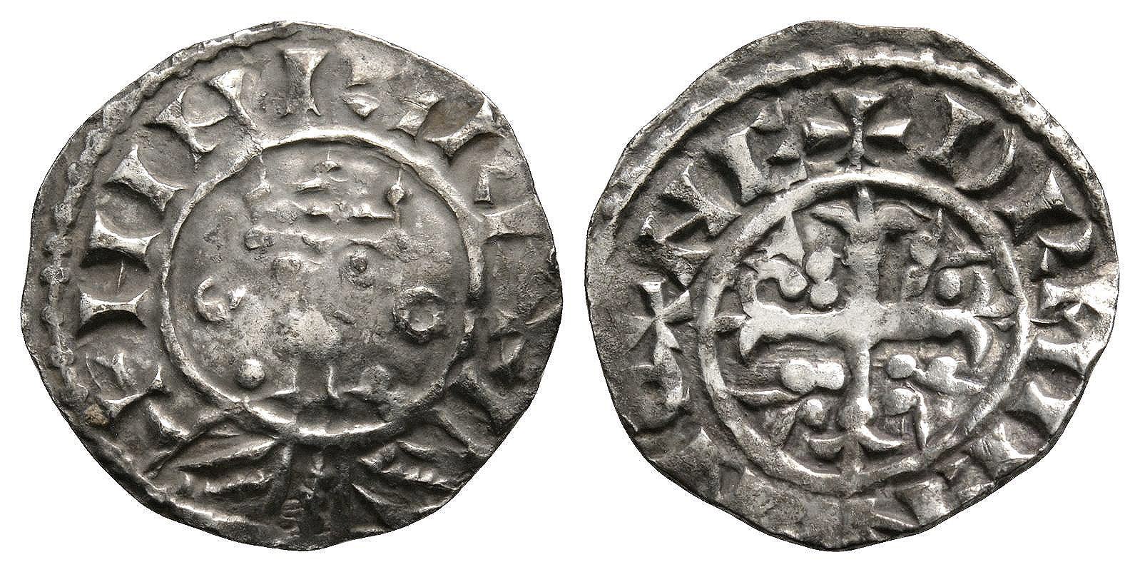 English Norman Coins - Henry I - Oxford / Hermien - Annulets Penny