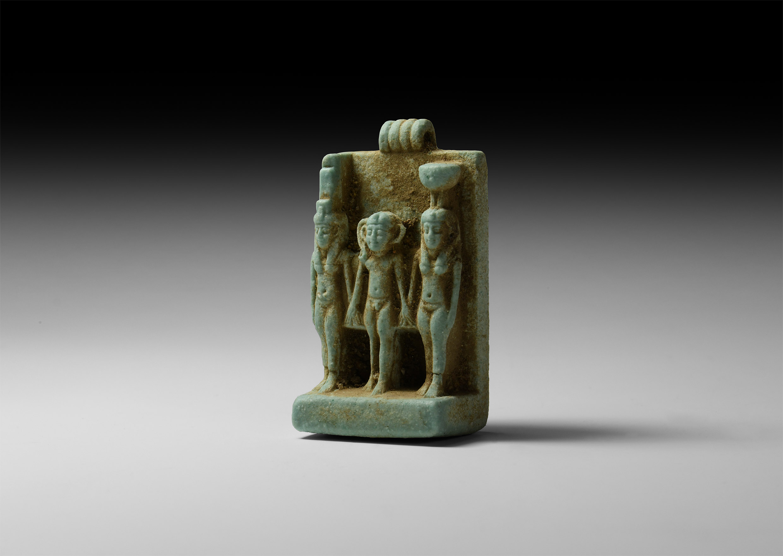 Large Egyptian Divine Triad Amulet